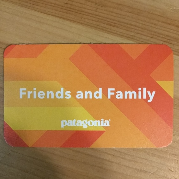 Patagonia friends and family 40% discount card NWT